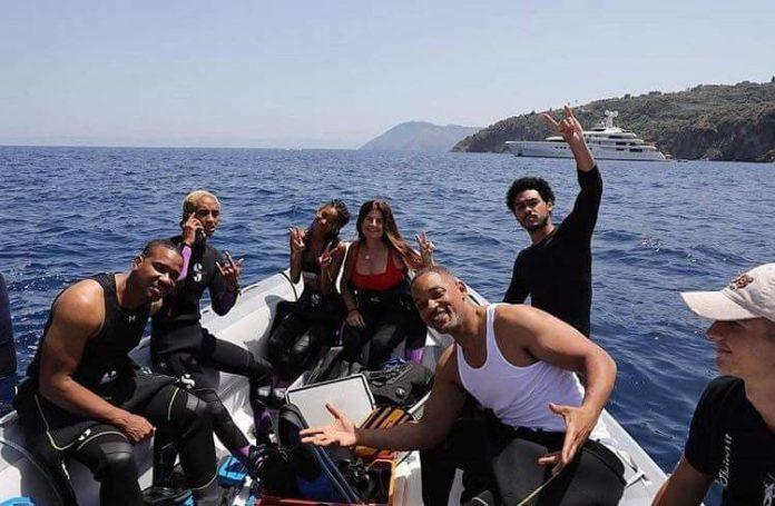 Anche Will Smith alle Eolie in vacanza con la famiglia