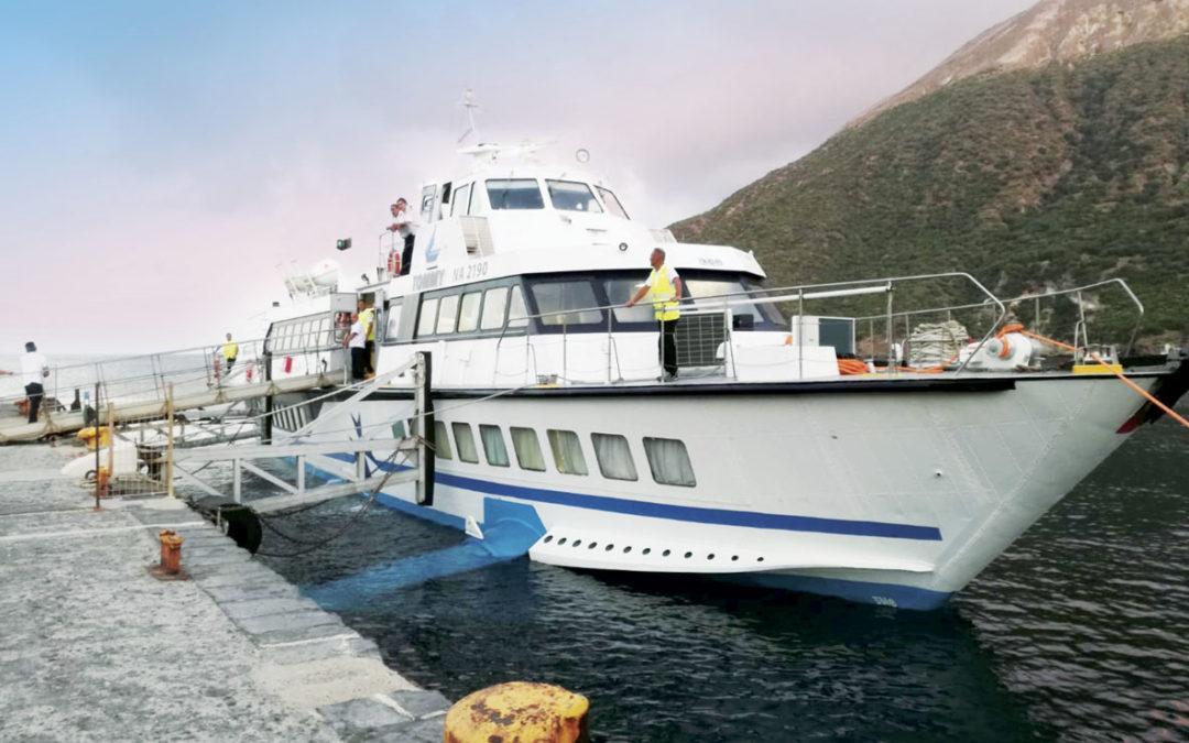 Il nuovo collegamento tra Salerno e le Isole Eolie